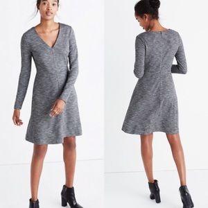 Madewell Bridgewalk V-Neck Gray Dress